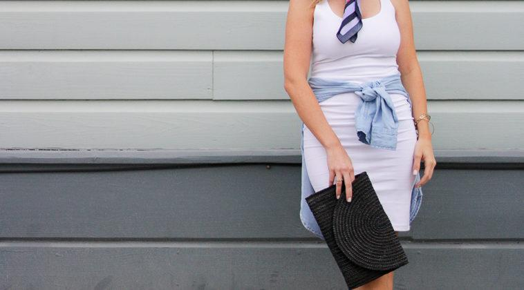 Midi Dress and a Neck Scarf