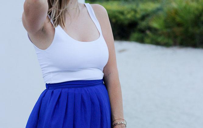 Beach Wear: Cobalt Blue Maxi Skirt