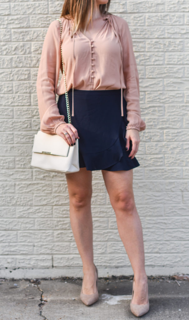 Blush-Navy-Ruffle-Skirt