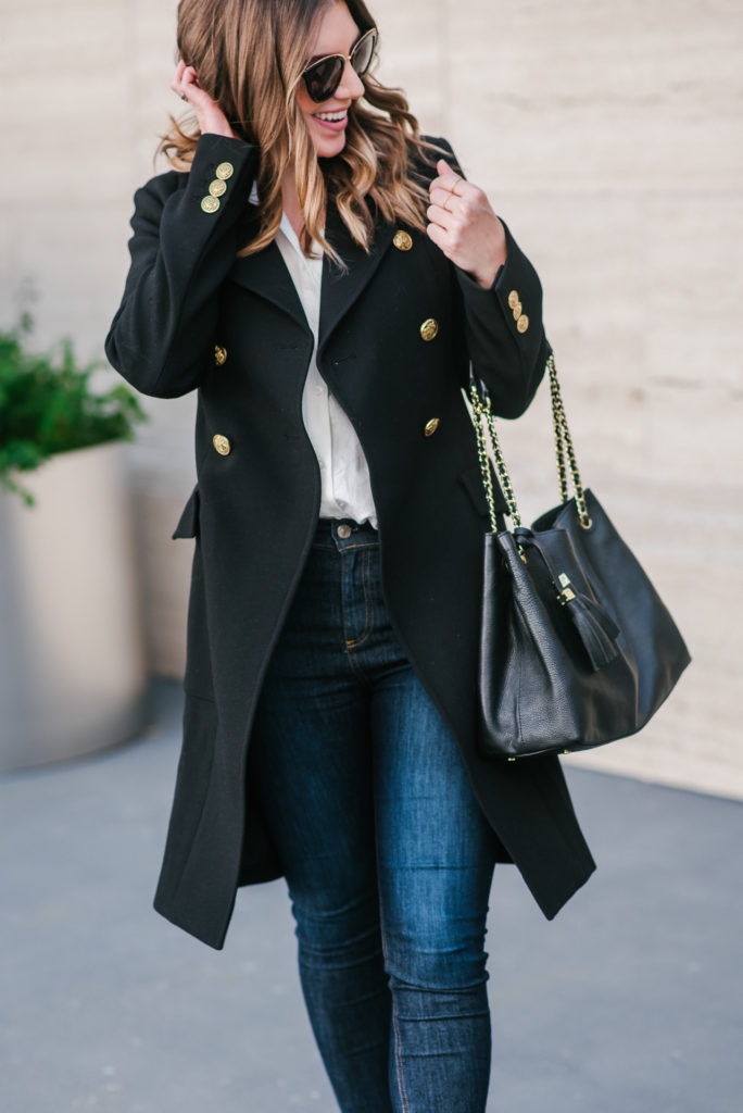 Black Classic Double-Breasted Coat